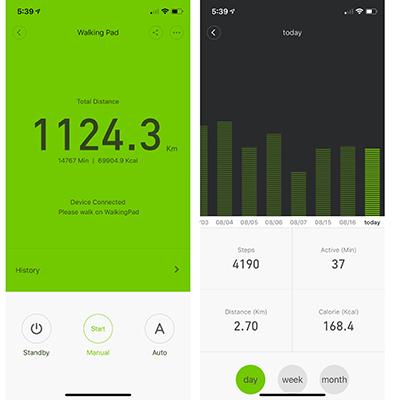 WalkingPad sammenleggbar tredemølle statistikk